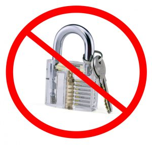 The best transparent lock is no transparent lock!