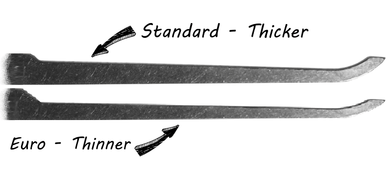 Standard vs Euro Lock Pick Profile