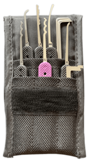 The best beginner lock pick set is the GSP Ghost Lock Pick set by Peterson Manufacturing.