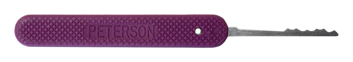 Peterson GSP Long Ripple - Purple Handle Lock Pick
