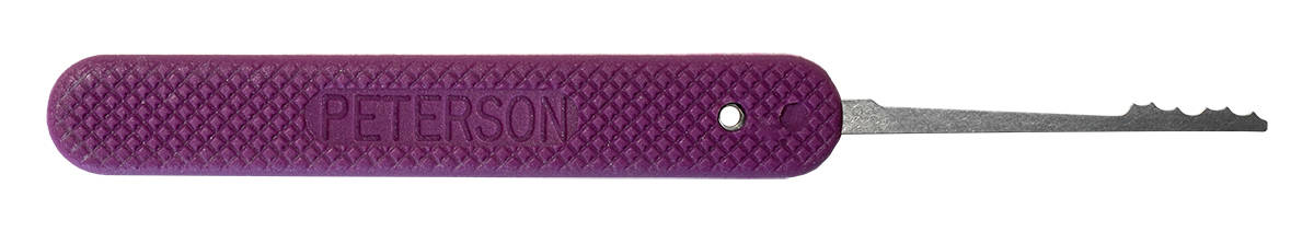 Peterson GSP Mini Ripple 3 - Purple Handle Lock Pick