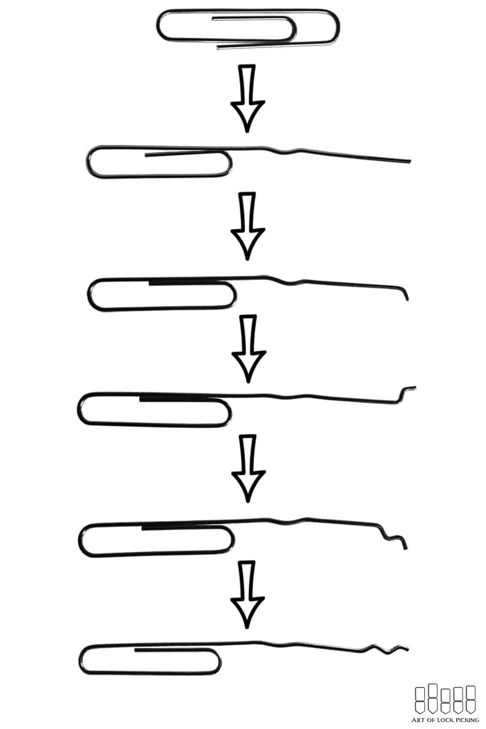 easy paperclip lock pick