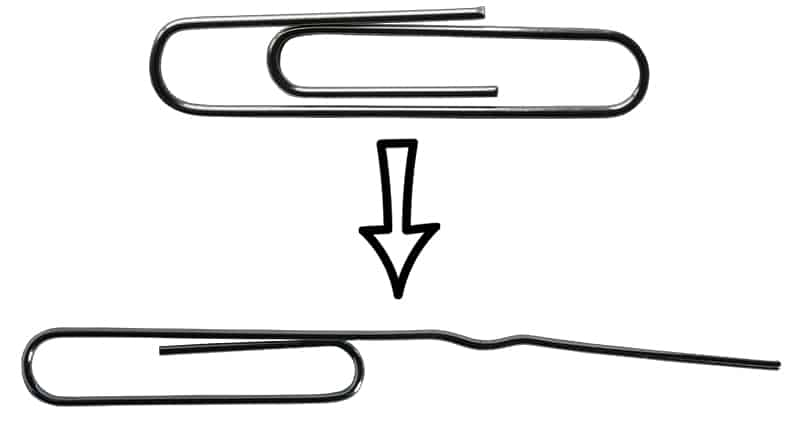 Paperclip Lock Pick- First Bend
