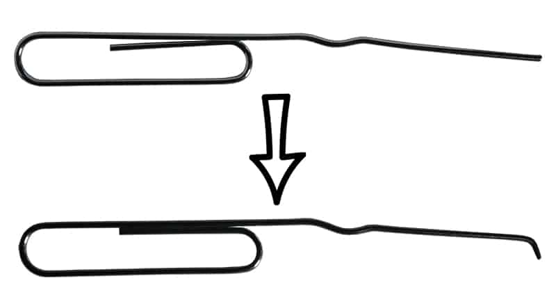 Paperclip Lock Pick- Second Bend