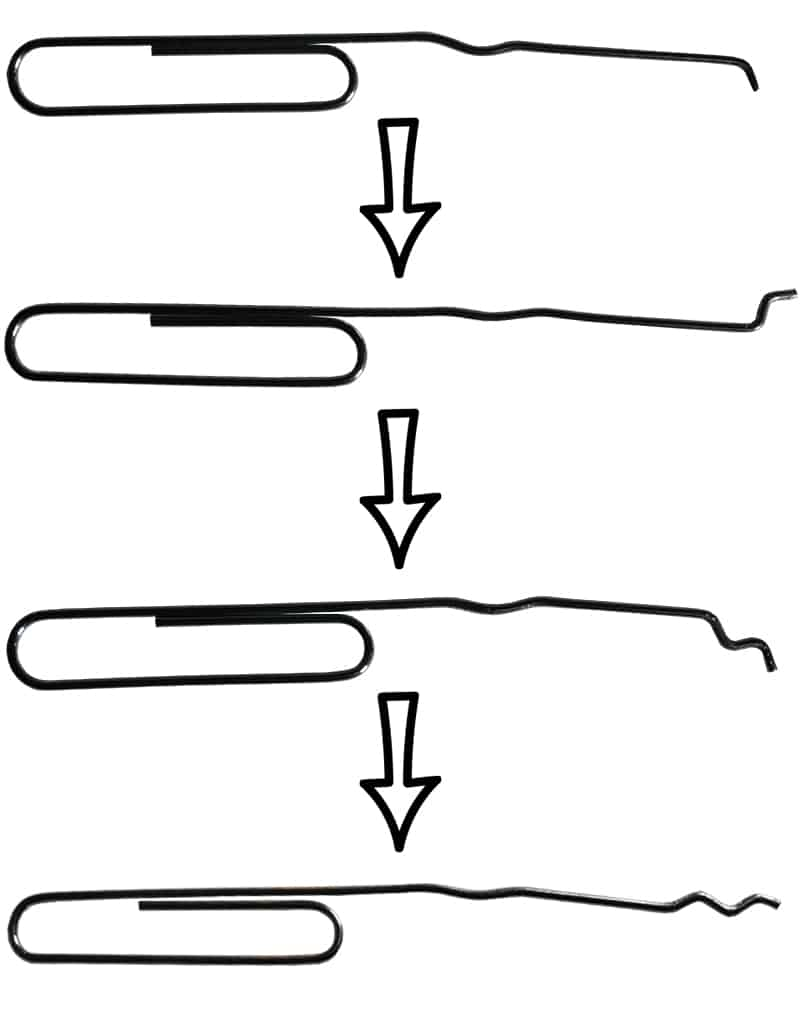 Paperclip Lock Pick- Third Bend