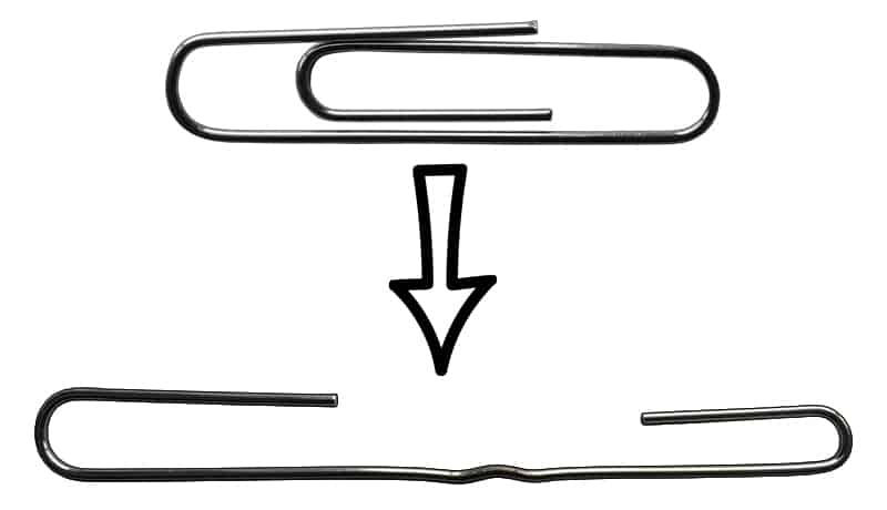 Paperclip Tension Wrench - Bend 1