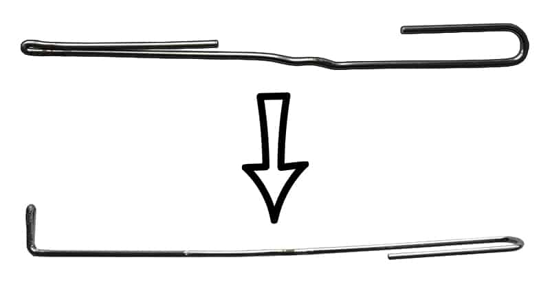 Paperclip Tension Wrench- Third Bend Example