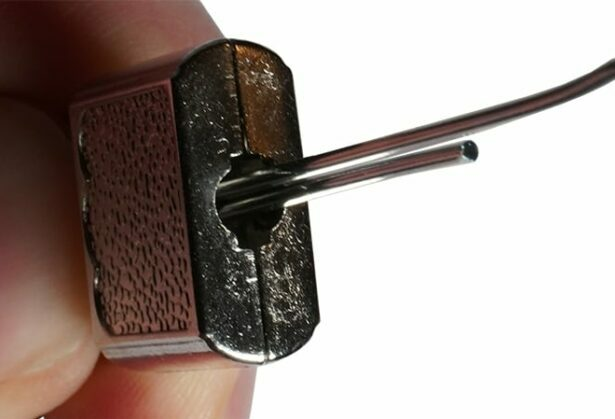 Picking a Diary Lock With a Paperclip - Step 2