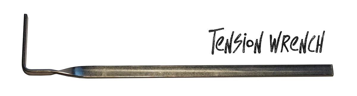 tension wrench labeled